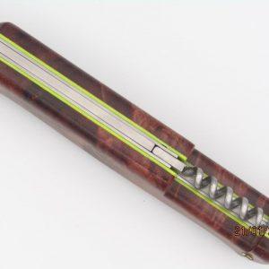 Couteau de chasse Munoz Virgilio en noyer stabilisé
